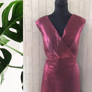 Adrianna papell metallic purple ruffled dress 16w